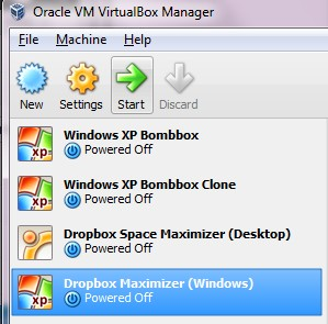 How to start a VirtualBox Machine