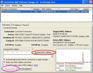 TMAC Change MAC Address